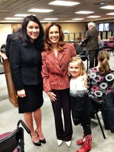ND State Senator Nicole Poolman, ND Superintendent of Public Instruction Kirsten Baesler and Elizabeth, age 5