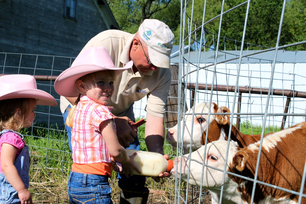 The next generation on our farm learns to care for animals.