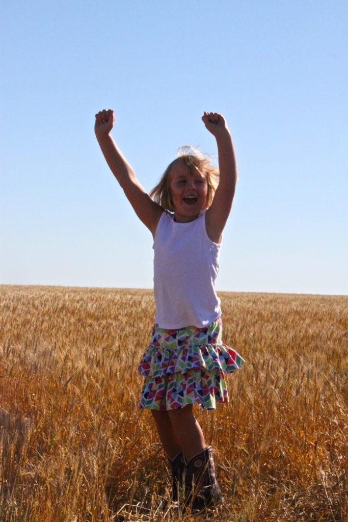 Wheat field girl