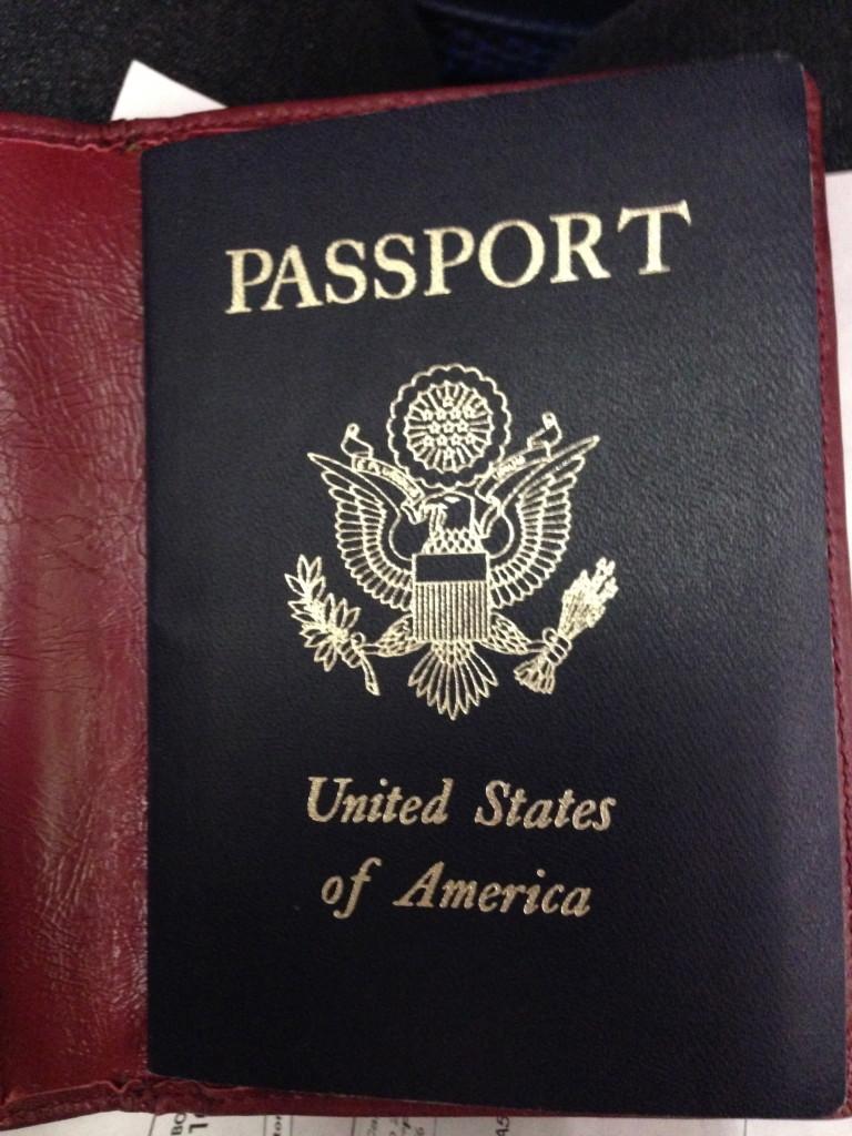 Dusting off passport
