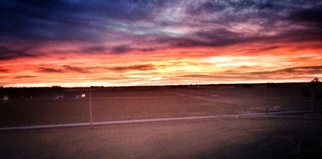 North Dakota October sunrise