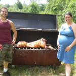 Pregnant & having a pig roast