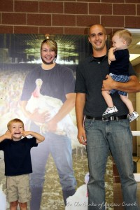 Katie's husband, Bart, was a cut-out farmer at the Iowa State Fair