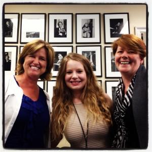 Janice in NY with blogging friends Debbie Lyons-Blythe & Ulla Kjarval