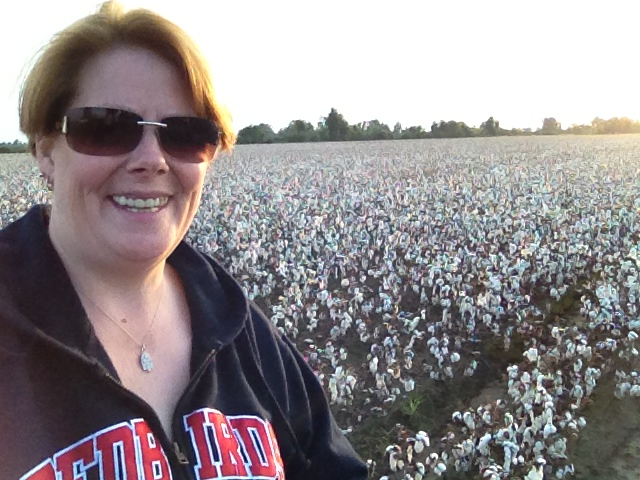 jp in a cotton field