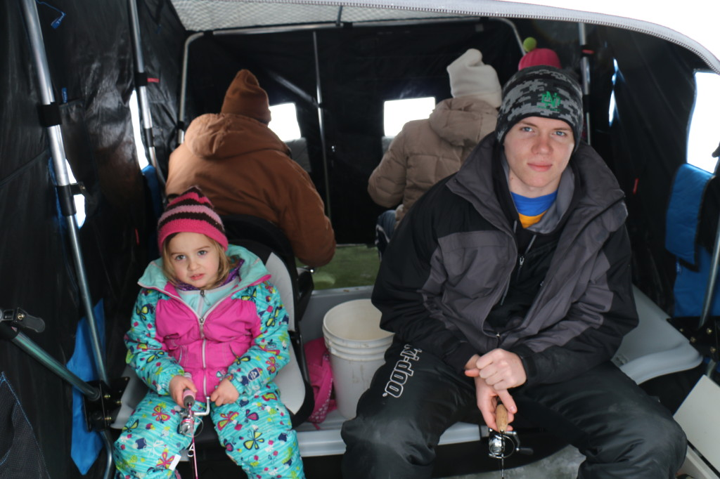 Family Ice Fishing in North Dakota