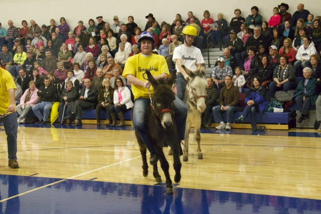 Small Town Fun: Donkey Basketball Fundraiser