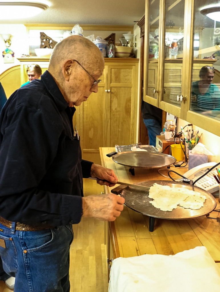 Grandpa, lefse making (2 of 3)