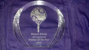 Bonnie Schulz agceptional award