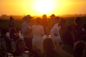 Banquet in a Field_sunset