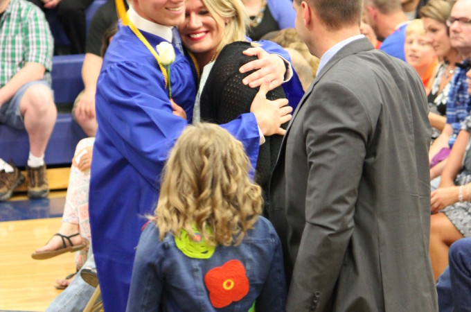 Graduation hug. Thank you to my friend Becky for capturing this moment!